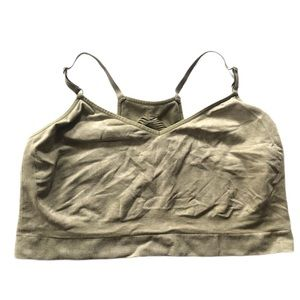 Cacique Olive seamless bralette cutout 18/20